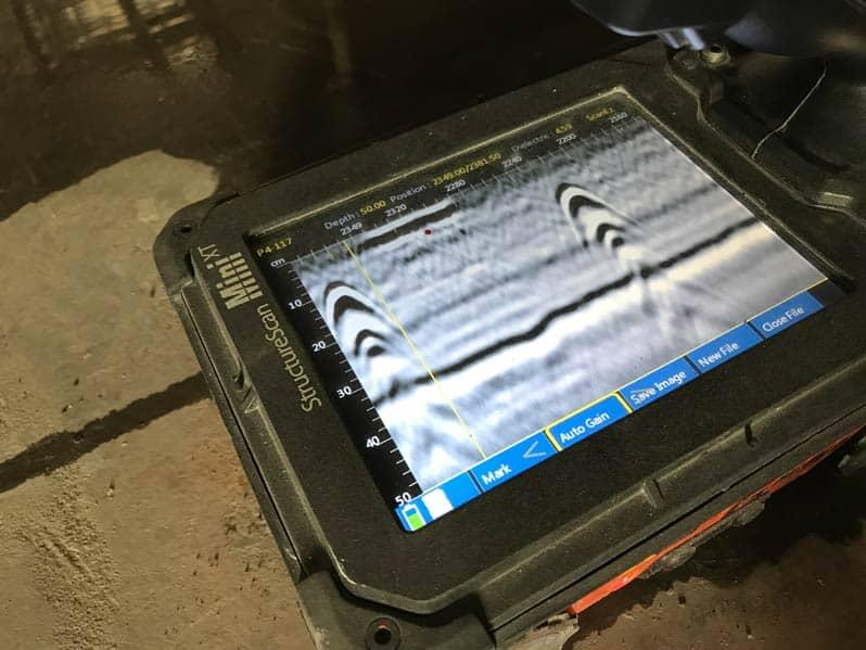 concrete GPR slab scanning and concrete imaging Sydney NSW Geosc